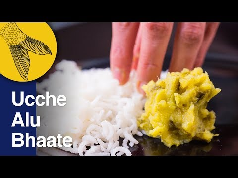 Ucche Alu Bhaate | Korola Bhaate | Bitter Gourd and Potatoes Bengali Vegetarian Recipe