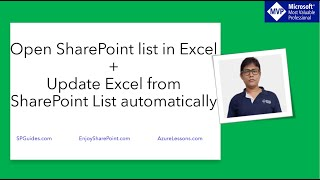Open SharePoint List in Excel + Update excel from SharePoint list automatically