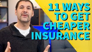 How to get lower car insurance rates | 11 Ways to get cheaper car insurance