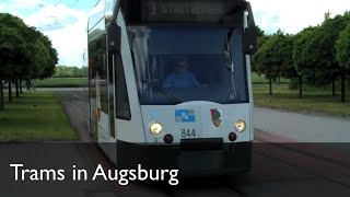 preview picture of video 'Strassenbahn Augsburg Trams'