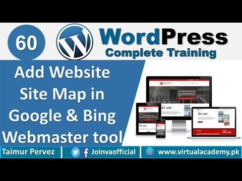 How to add Site Map in Google & Bing Webmaster Tools. 60 ...