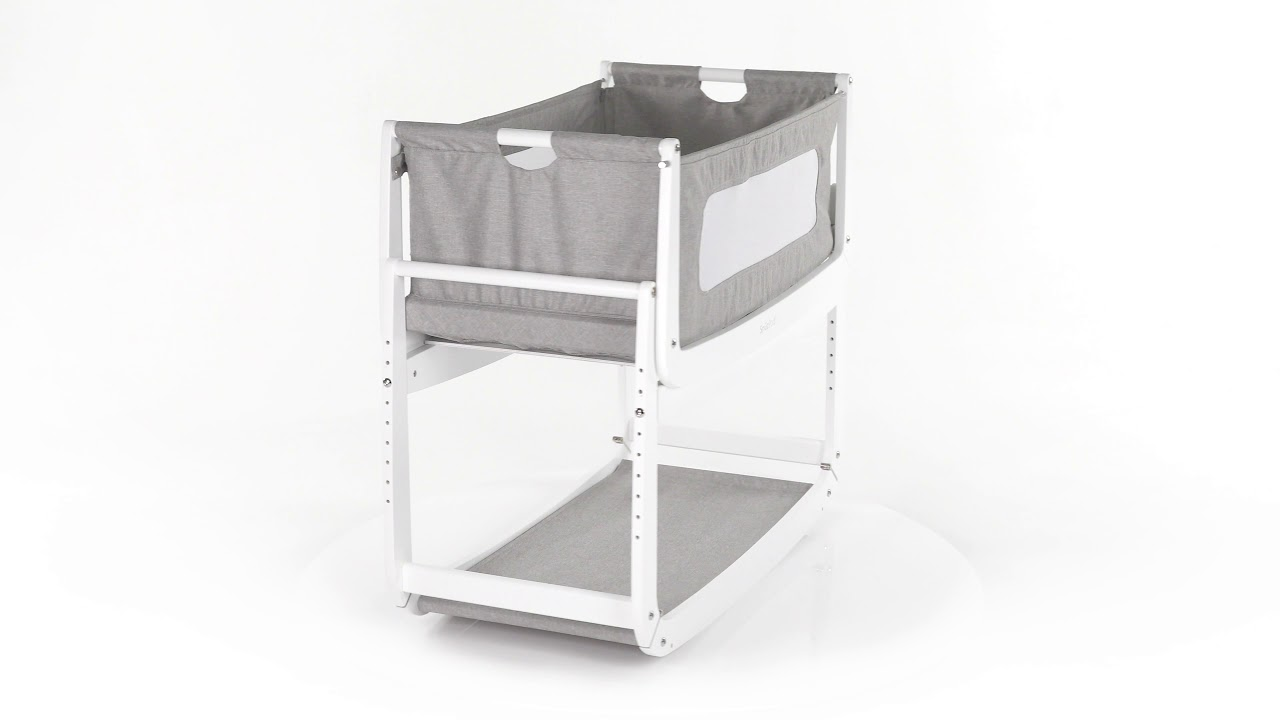 SnuzPod 3 Bedside Crib 3-in-1 with Mattress in Dusk Grey