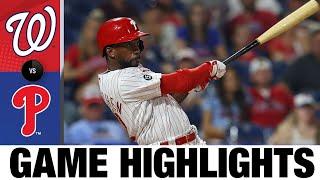 Faits saillants du match des Nationaux contre les Phillies (26/07/21)   Faits saillants de la MLB