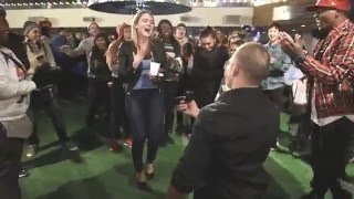 Flash Mob Marriage Proposal At The Cosmopolitan Ice Rink In Las Vegas