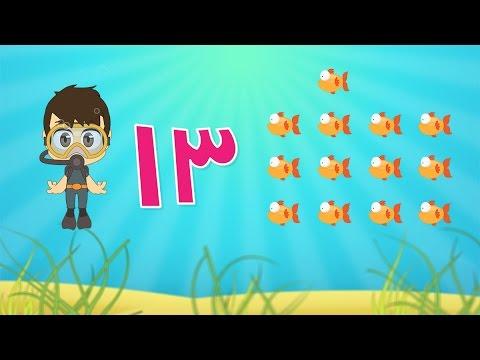 Learn Arabic Numbers for kids 10 -20 / تعلم الأرقام للأطفال باللغة العربية ١٠ - ٢٠