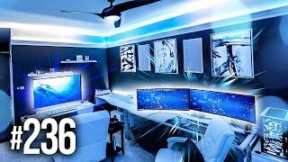 Room Tour Project 236  - BEST Desk & Gaming Setups!