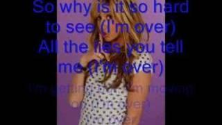 Ashley Tisdale Over it (with lyrics!)