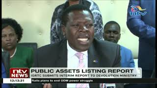 IGRTC submits interim public assets listing report to Devolution ministry