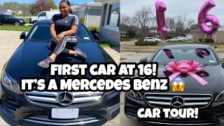 I Got My First Car At 16, Its A Benz// Did I Crash It Already?(Car Tour)