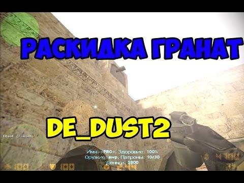 Раскидка гранат de_dust2