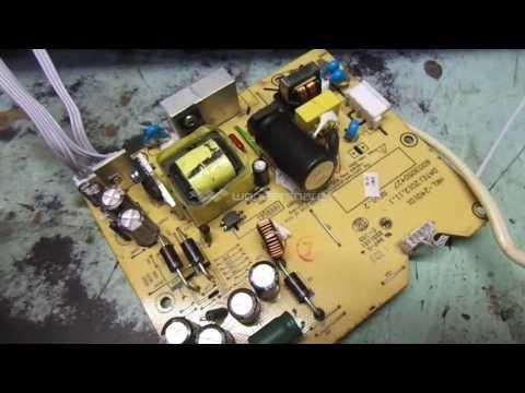 Т/В  FUSION   FLTV-24L31B   ремонт  блока питания