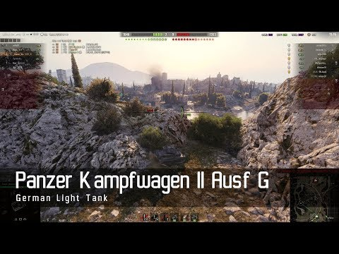 World of Tanks – German Tech Tree - Light tank – Panzer Kampfwagen II Ausf G – Abbey