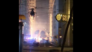 MATRIX 4??(BTS) : EXPLOSION AND SUPER LOW FLYING HELICOPTERS IN SAN FRANCISCO!!
