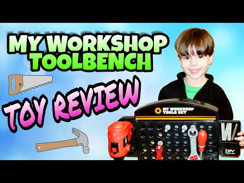MY WORKSHOP TOOLBENCH TOY REVIEW AND ASSEMBLY