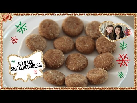 Healthy Snickerdoodle Cookies! No Bake & Only 5 Ingredients! Collab with KitchyKitchen!