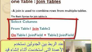 Oracle Join Tables تعليم أوراكل