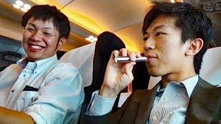 喫煙車大富豪系サラリーマンにグリーン車をおごってもらった6/30-03