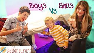 Stuck At Home Boys Vs Girls Blanket Fort Challenge