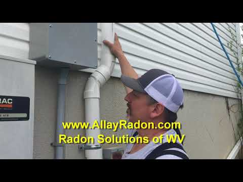 Radon Mitigation Piedmount Ohio with a muffler on the system.