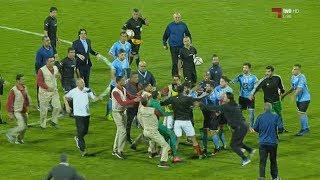اشتباكات بين لاعبي الفيصلي والجزيرة بعد ركلة الترجيح الأخيرة في نهائي كأس الأردن 2017