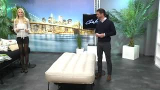 Carlo Milano Luxus-Luftbett mit integrierter Pumpe, 200 x 100 cm