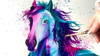 Watercolor Speed Painting: Horse