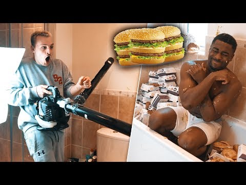 We Made A McDonalds GRANDE BIG MAC Launcher And I Destroyed My Friend With It..