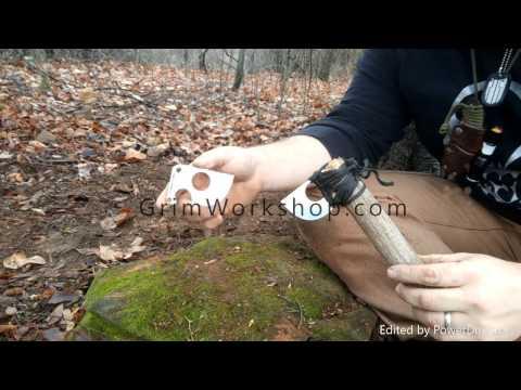 Primitive Axe Card Using Grim Workshop Survival Tools