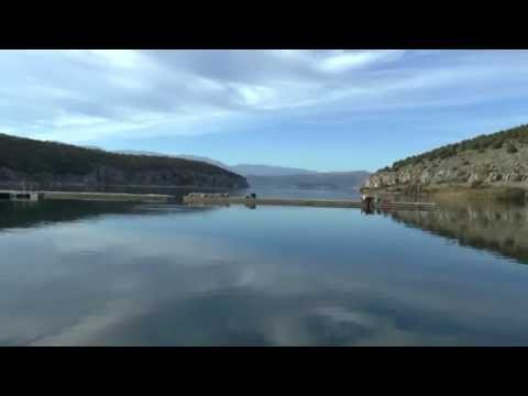 Views of Lake Prespa, Northern Greek bor