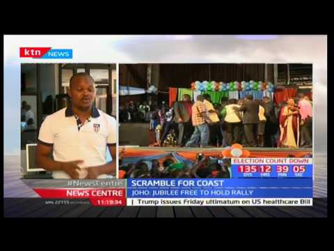 SCRAMBLE FOR COAST: Jubilee and NASA head to Mombasa to hold parallel rallies