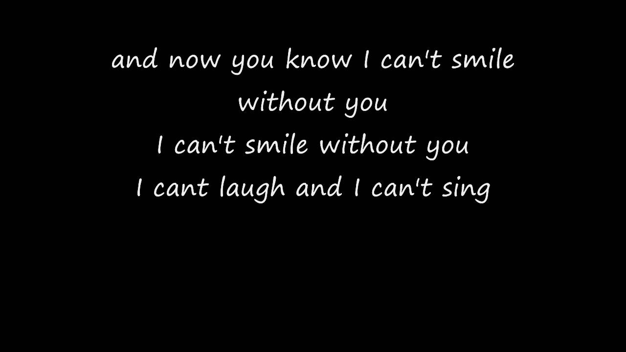 i can t smile without you mp3 free download