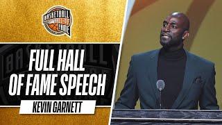 Kevin Garnett   Hall of Fame Enshrinement Speech
