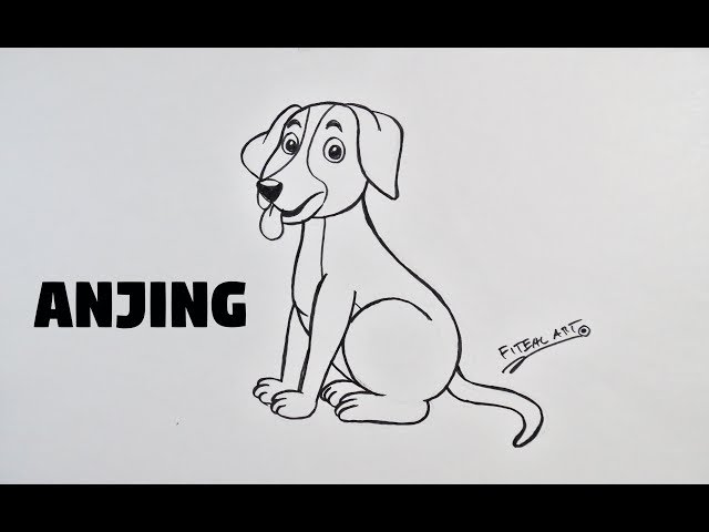 Cara Menggambar Hewan Anjing How To Draw Animals Step By