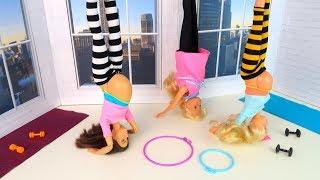 Вверх Тормашками или Беременные Мамы Идут на Йогу Мультик #Барби Куклы Игрушки Для девочек