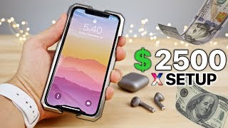 My $2500 iPhone X Setup! + NEW iPhone X Giveaway