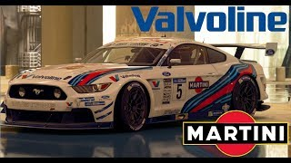 GT SPORT LIVERY TIMELAPSE VALVOLINE AND MARTINI MUSTANG