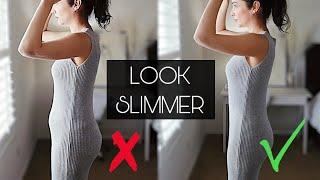 How To INSTANTLY Look Slimmer Slender Skinny | 11 Style Tricks