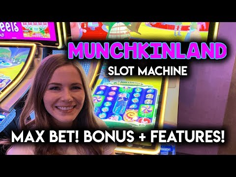 Wizard of Oz Munchkin Land Slot Machine! Max Bet Bonus + Witch Features!!