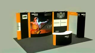 5 In 1 Trade Show Booth & Display Designs Las Vegas - Pop-Up, Portable Exhibit Animation Video