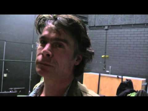 Marcel de Groot backstage na het concert met zijn vader Boudewijn de Groot