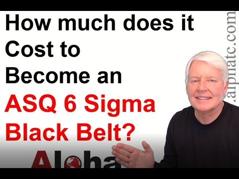 How much does it cost to become an ASQ Six Sigma Black Belt (50 ...