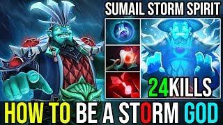 Immortal Spirit 29Min=24Kills Zero Death [Storm Spirit] SUPER GODLIKE By SumaiL | Dota 2 FullGame