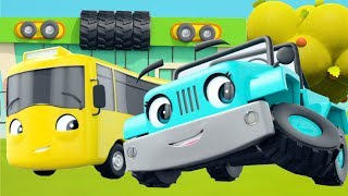 Buster's New Tires | Go Buster | +More Nursery Rhymes and Baby Songs | Little Baby Bum