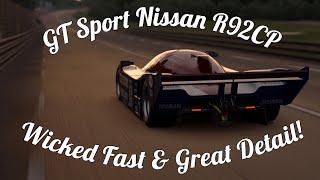 GT Sport Nissan R92CP Gameplay! Legendary Racecar!
