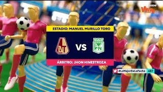Tolima Vs Nacional - Resumen Y Mejores Jugadas   Liga Aguila 2019-1   Cuadrangulares Fecha 5