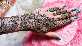 Simple Eid Special Mehndi Design | Easy Rakhi Mehndi Design | Stylish Back Hand Mehndi Designs