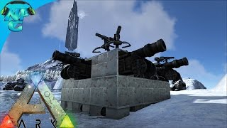 Building Our Raid Raft With Underwater Turrets! ARK Survival Evolved - PvP Season E40