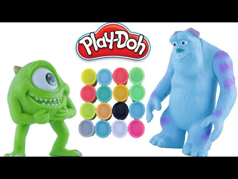 Mike vs Sully from Disney Monsters in Cup Challenge & Loser is Slimed and Learn Numbers & Colors!