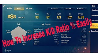 How To Increase K/D Ratio % IN PUBG Mobile ! EmriT Clashers