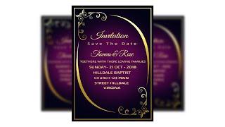Wedding Invitation Card Design Tutorial In Photoshop